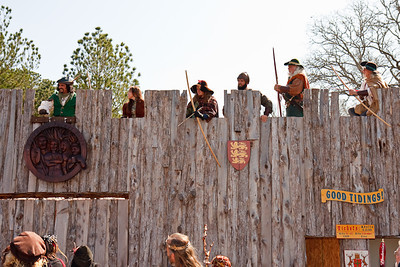 Robin's gang runs off the sheriff's men...