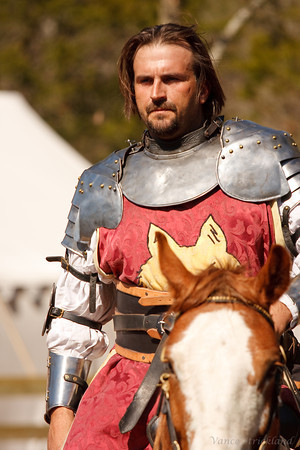 One of the knights in the joust.