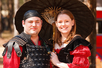 Couple attending Sherwood Forest Faire