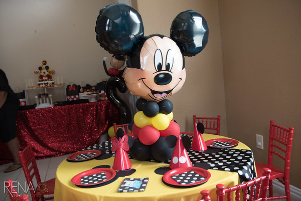 Mickey Mouse Birthday Party: Aubrey Turns 2