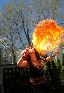 Fire breathing woman!