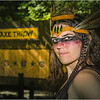 The axe-throwing huntress.