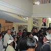 Fibuspam Executive Director, David Guacho, helps to control the crowd.