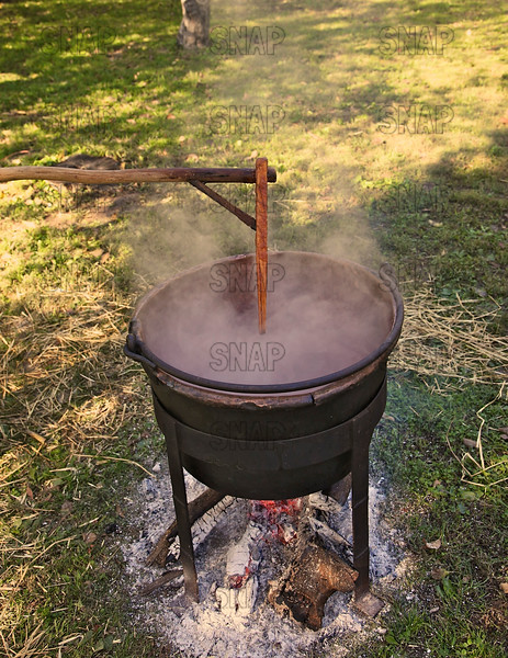 Apple butter being made, at the Pioneer Days festival in Fowler Park near Terre Haute, IN.