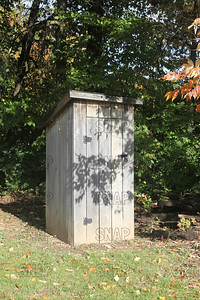 Outhouse (restroom), at the Pioneer Days festival in Fowler Park near Terre Haute, IN.