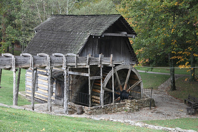 An old mill at the Pioneer Days festival, in Fowler Park, near Terre Haute, IN.