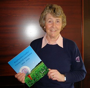 CarolFell with her Centenary Book