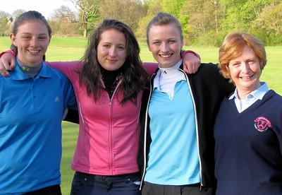 Alyson, Natasha, Linsey and RLCGA Captain Trish Brown
