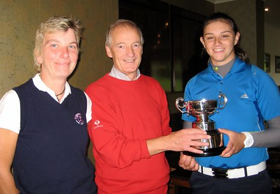 Captain Jim Crawford presents the Trophy