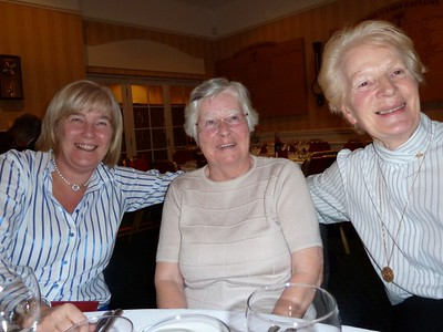 Wilma and Belle and Captain of D&A at the time  - 2011