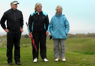 Out on the Course with Nancy Chisholm and husband