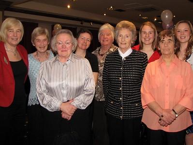 Honarary members at the Centenary Dinner 2009 -- Wilma on LHS
