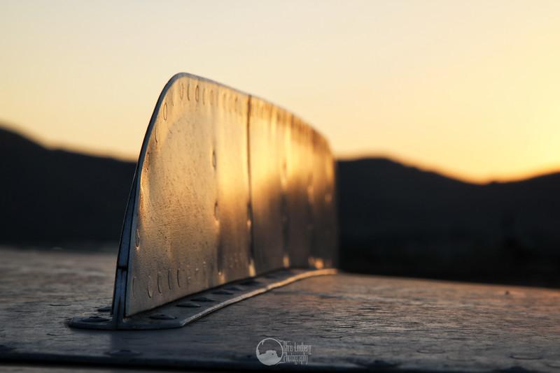 MiG-21, N210EM<br /> Starboard Wing Fence, Sunset
