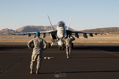 Ground Crew and Super Hornet