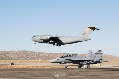 C-17 Globemaster III, EA-18G Growler