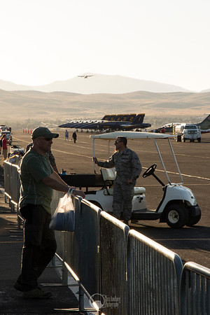 C-130, Blue Angels, Ground Crew near Sunset