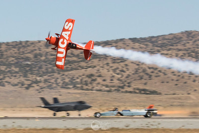 Lucas Oil Pitts, F-35A, JetCar