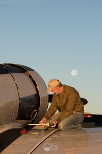 Fueling up the T-6 Pace Plane