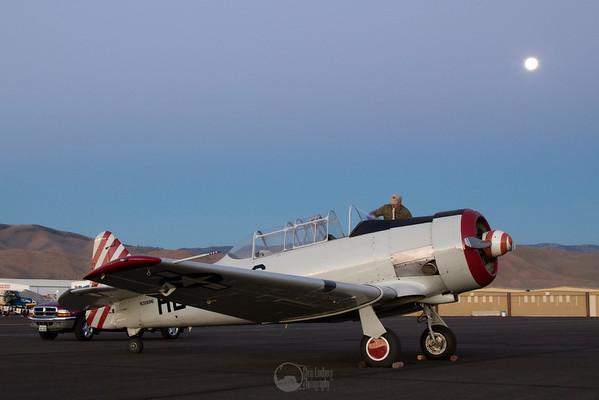 Dawn. T-6 Pace Plane