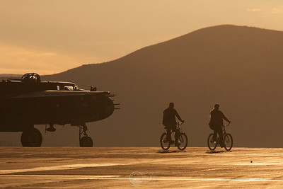 Bicycles On the Ramp at Dawn