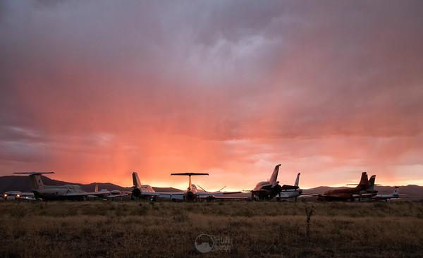 Sunset, the Rain, and the Birds