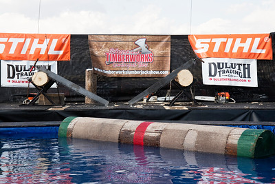 Stihl Timbersports Trailer and Log Rolling Pool