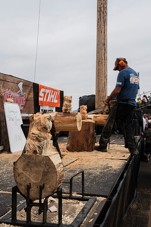 Stihl Timbersports Demo - Chainsaw Sculpting