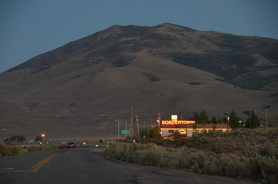 BorderTown Casino with Peavine in the background.