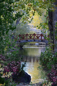 Bridge at Caughlin Ranch in Fall