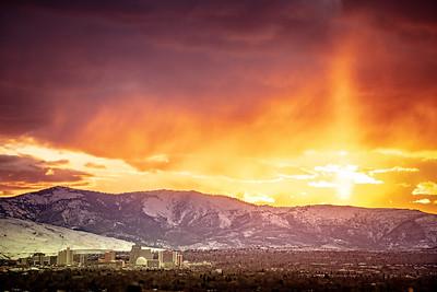 Reno skyline sunset March 1 2020  5278
