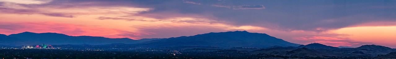 Reno Sunset Pano August 2016