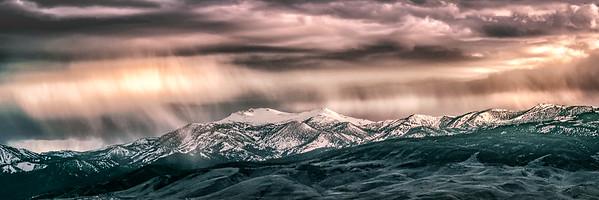 Mt Rose Rainstorm Pano