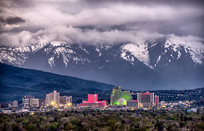 Reno Skyline Stormy April Evening