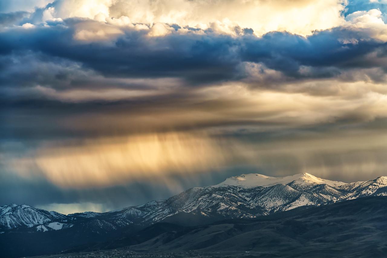 Rain over Mt Rose