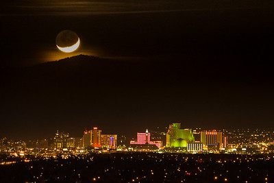Moonset Over Reno  Dec 15