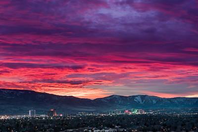 Reno skyline sunset 7574