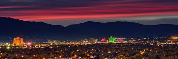 Reno Skyline November Sunset 2480