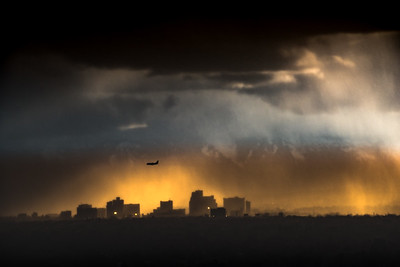 Reno  Skyline Rainy Sunset