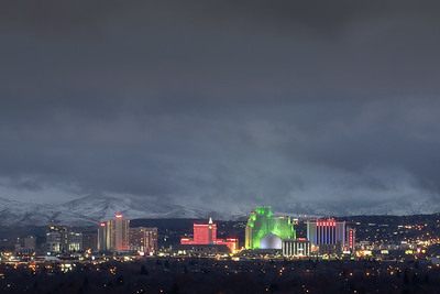 Reno skyline winter night 1332