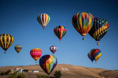 Reno Balloon Races  on a Clear Morning