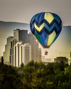 A Smoky Sunrise for the Great Reno Balloon Races