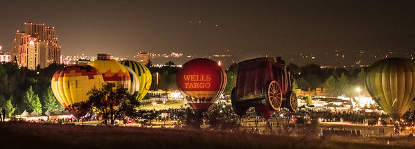 Pre-dawn Pano Glow-show of the Reno Balloon Races