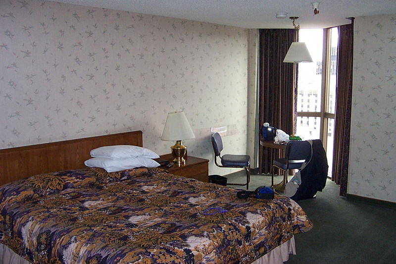 This was my room at Fitzgerald's.  Dave and Lou shared another room down the hall.<br /> [Reno]