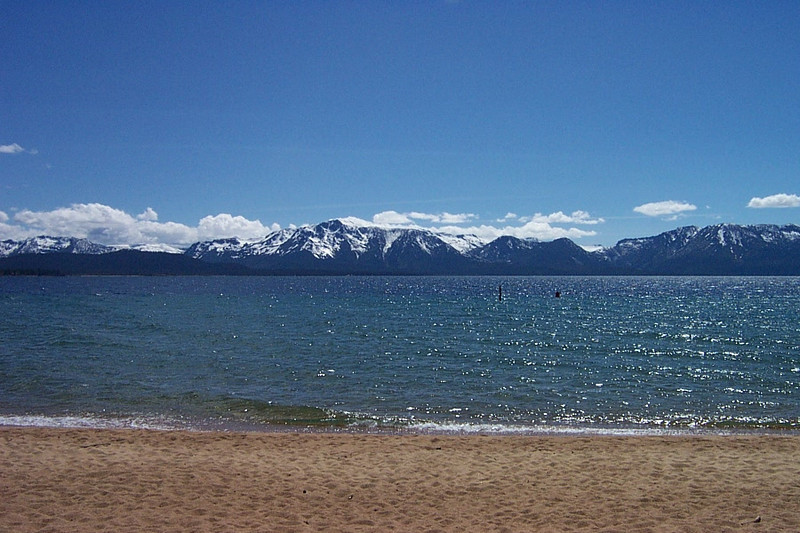 What a beautiful day!<br /> [Lake Tahoe]