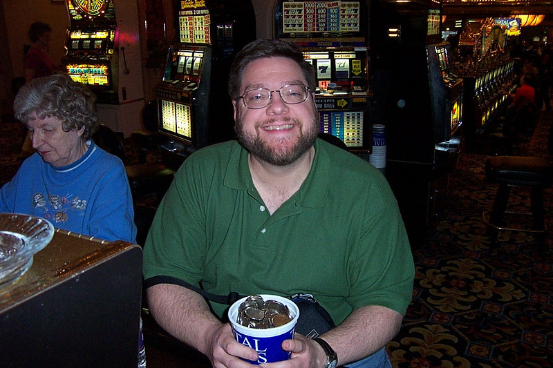 "Jon says ""Happiness is a bucket full of quarters!""<br /> [Reno]"