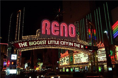Welcome to Reno!  Wow--this shot I took of the arch could almost be a postcard!  I bought my first digital camera right before this trip.  When I got home and wanted to share some pictures by e-mail, I stupidly re-sized some of the original files--that's why some of the pictures in this gallery are so small.