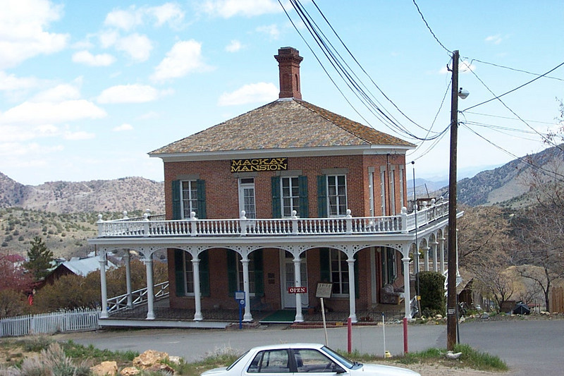 The Mackay mansion.  At one time, this was the home of one of the richest men in the world.<br /> [Virginia City, South of Reno]