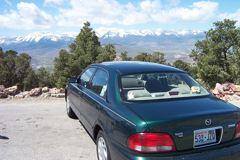 My Mazda 626 enjoyed the view, too.  It's been a terrific, reliable car!<br /> [South of Reno]