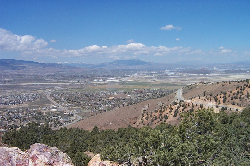 Overlooking the city on our way to Virginia City.<br /> [South of Reno]