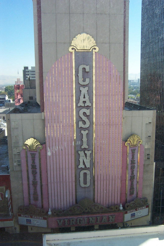 The closed Virginian, as seen from Dave's Cal-Neva hotel room.  It's across the street, right next to the Cal-Neva's casino.<br /> [Reno]